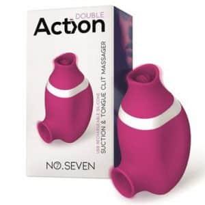no-seven-2-en-1-succionador-de-clitoris-y-lengua-estimuladora-usb-silicona(tienda erótica)